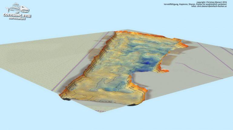 Bucht M1 3D Karte by gofishing – Aufsicht Ost Nord