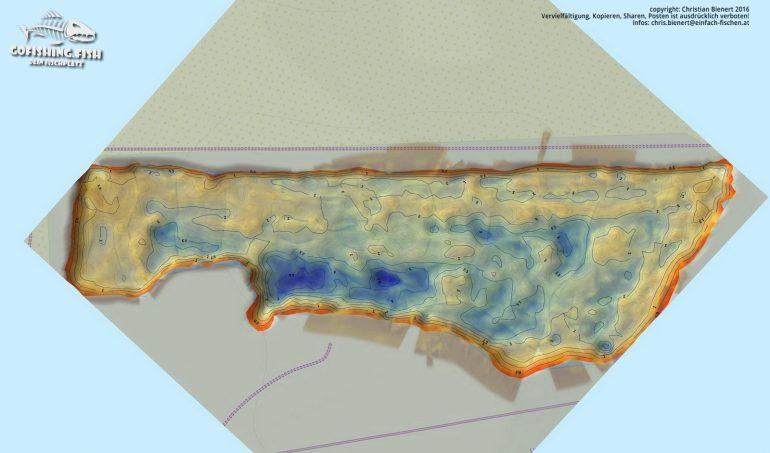 Bucht M1 3D Karte by gofishing – Aufsicht komplett