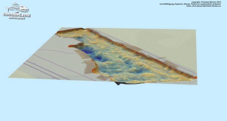 Bucht M1 3D Karte by gofishing – Aufsicht seite west