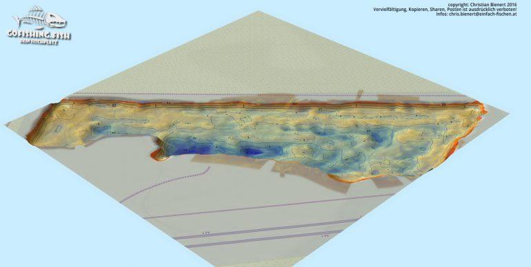 Bucht M1 3D Karte by gofishing – Aufsicht vorne